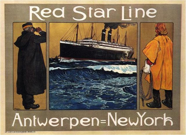 , 'RED STAR LINE - ANTWERP TO NEW YORK ,' ca. 1905, Omnibus Gallery