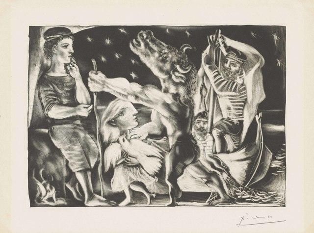 Pablo Picasso, 'Minotaure aveugle guidé par une Fillette dans la Nuit, from: La Suite Vollard', 1934, Christie's