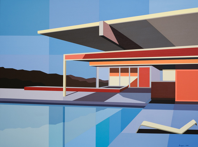 """, '""""Re-Imagined Neutra I - Mountain House"""",' 2018, Bonner David Galleries"""