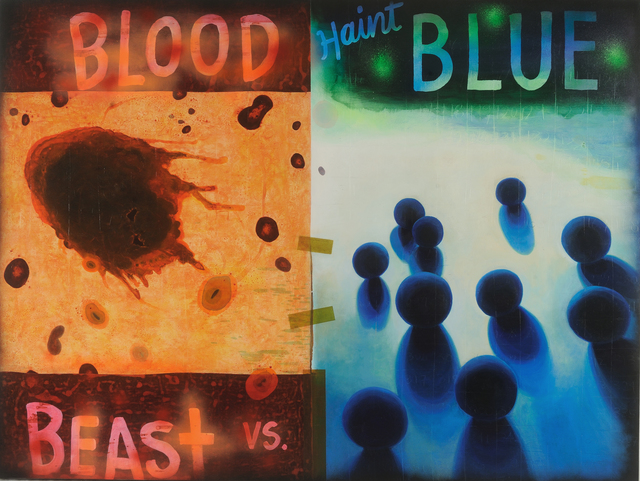 , 'Blood Beast vs. Haint Blue,' 2017, Hemphill Artworks
