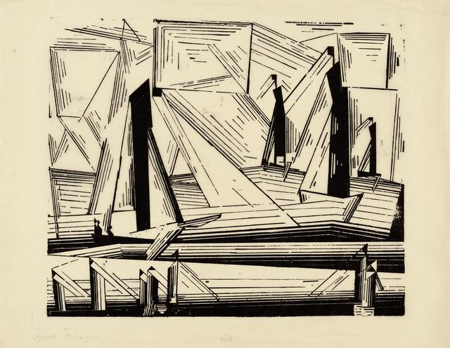 , '(Fischerboote) (Fishing Boats),' 1921, Moeller Fine Art