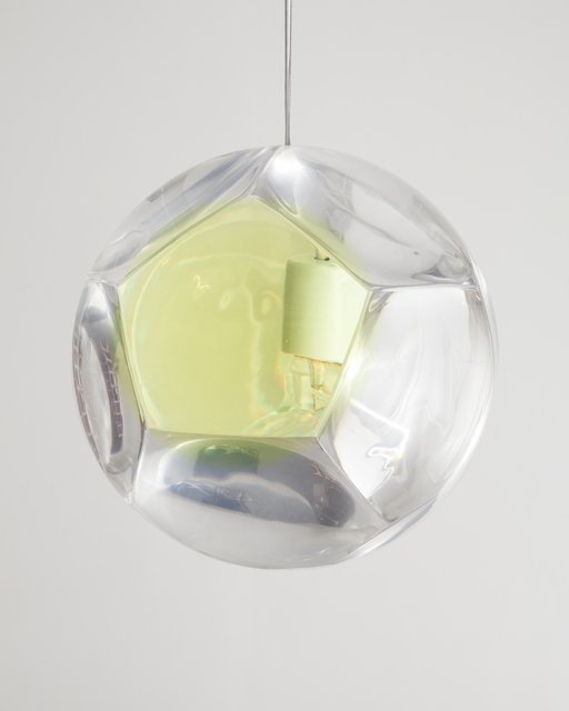 ", 'Large ""Dodecahedron"" Chandelier and Optical Instrument with One Yellow Lens,' 2014, R & Company"