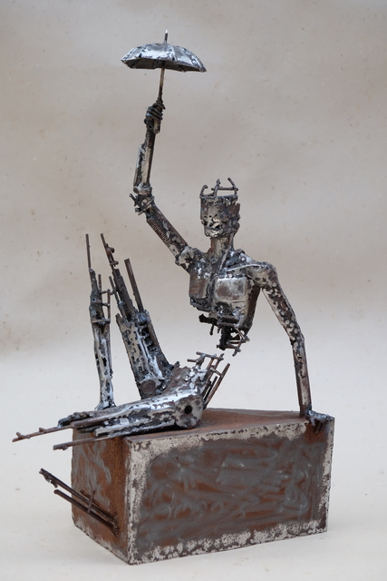 Pedro Luis Cuellar, 'El refugiado/ The Refugee', 2018, Sculpture, Welded steel, ArteMorfosis - Cuban Art Platform