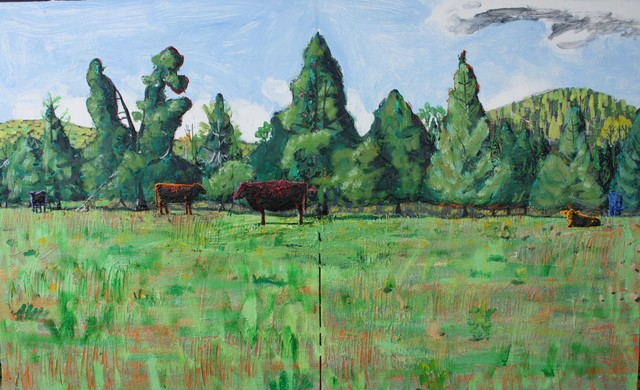 , 'Five Cows in Spring ,' 2018, Les Yeux du Monde Gallery