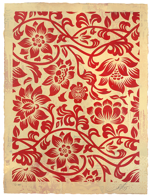 , 'Floral Takeover (Red/Cream),' 2017, 212GALLERY