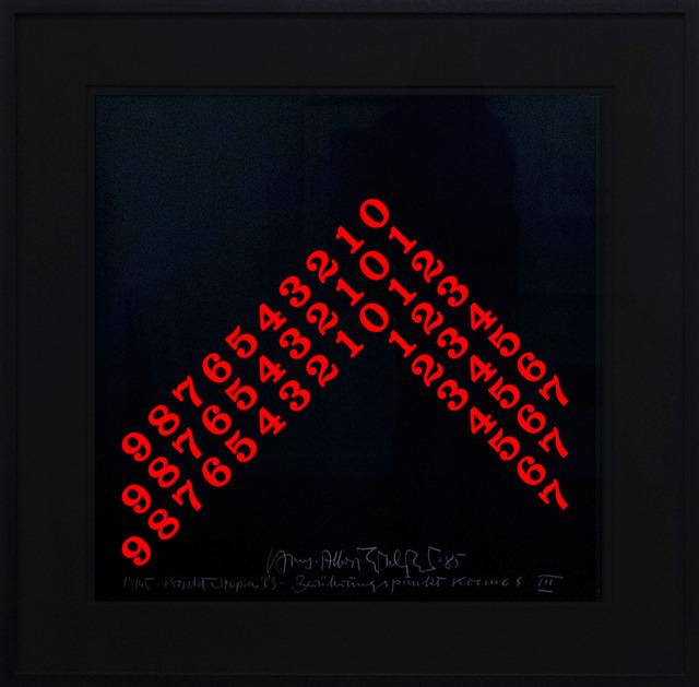 Hans-Albert Walter, 'Countdown in rot', 1994, Galerie Kellermann