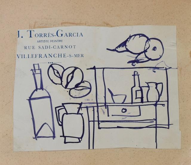 Joaquín Torres-García, 'Bodegón ', Drawing, Collage or other Work on Paper, Ink on paper, Galería de las Misiones
