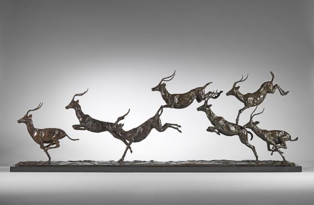 Mark Coreth, 'Leaping Impala group', 2017, Sladmore Contemporary