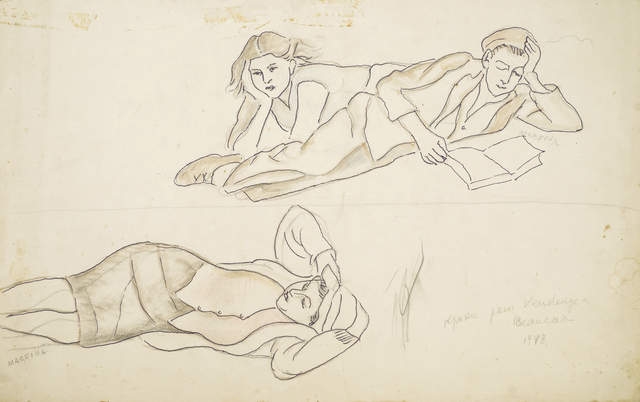 Marie Vorobieff Marevna, 'Study of two reclining women and a man', 1943, Roseberys