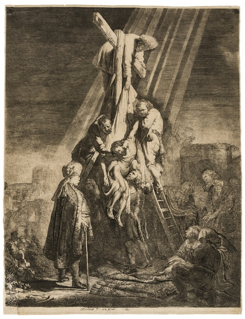 Rembrandt van Rijn, 'The Descent from the Cross: Second Plate', 1633, Print, Etching and engraving, Forum Auctions