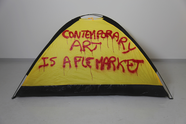 , 'CONTEMPORARY ART IS A FLEA MARKET,' 2017, SABSAY