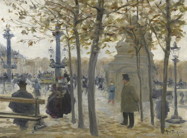 , 'Place de la Concorde,' ca. 1870, Stoppenbach & Delestre
