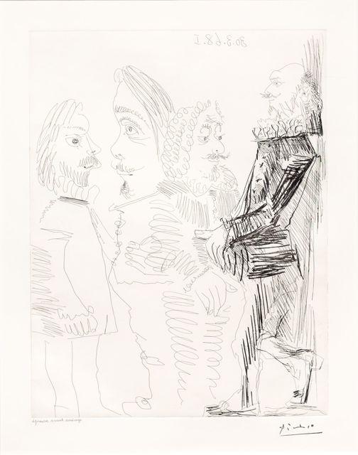 Pablo Picasso, 'Quatre Hommes en Costume..., from the 347 Series', 1968, Leslie Sacks Gallery