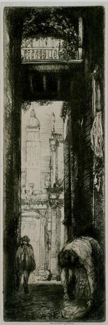 Donald Shaw MacLaughlan, 'Santa Maria Formosa, Venice', 1909, Print, Etching, Private Collection, NY