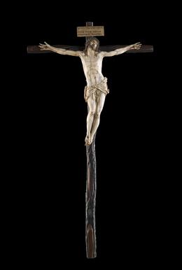 Gaspar Núñez Delgado, 'Crucifix', 1599, Sculpture, Ivory, ebony, mahogany, silver, polychromy, Indianapolis Museum of Art at Newfields