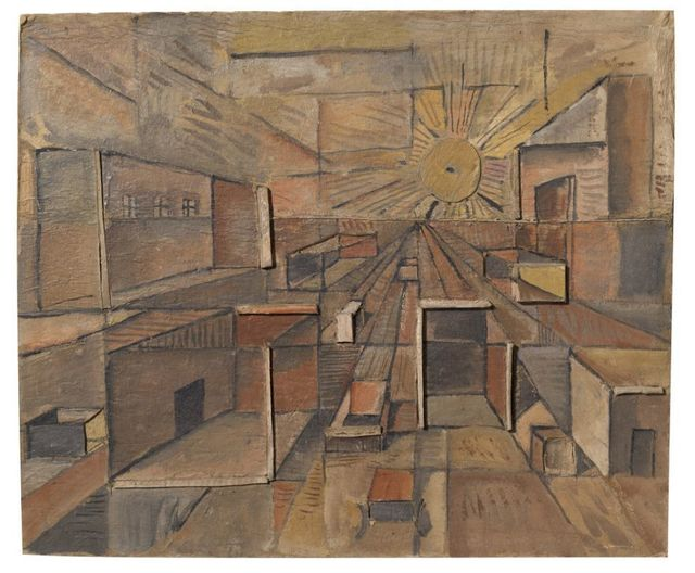 , 'Constructivo con perspectiva,' ca. 1958, Galeria Sur