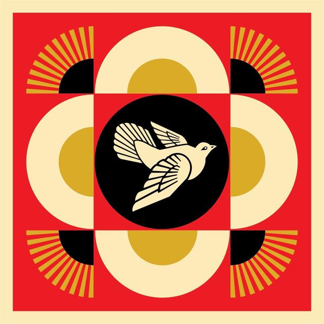 Shepard Fairey (OBEY), 'Dove Geometric (Red)', 2018, McCaig-Welles