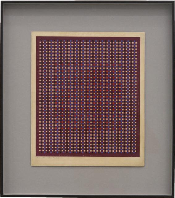 , 'Vermelho (Quadrados),' 1950's, Bergamin & Gomide