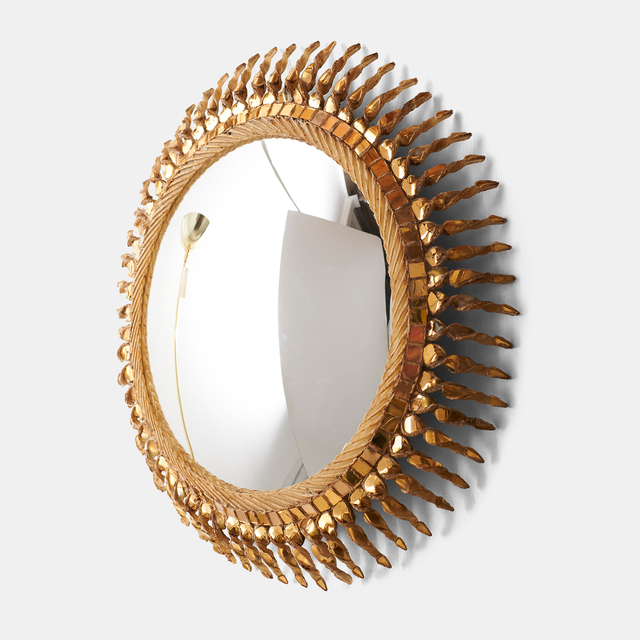""", 'Large """"Twisted Sun"""" Mirror by Line Vautrin,' 1955-1965, Almond & Co."""