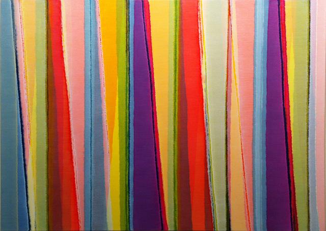 , 'Vertical Stripes Fourteen,' 2014, Charles Nodrum Gallery