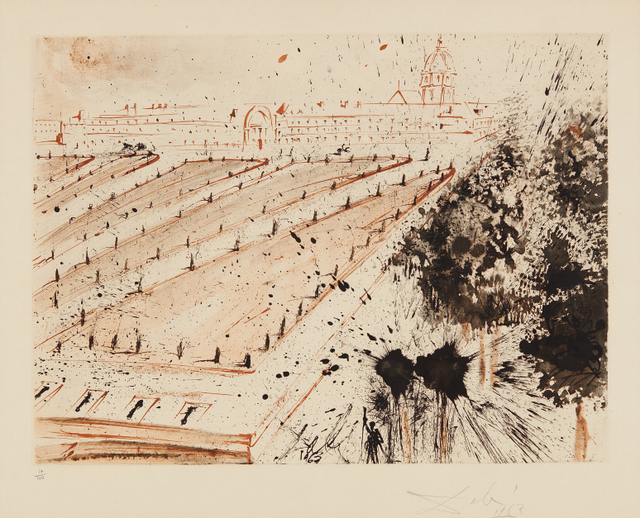 Salvador Dalí, 'Esplanade des Invalides, plate 2 from the Paris Series, by Lluís Bracons', 1963, Phillips