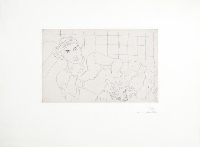 , 'Jeune femme et son chien,' 1929, Bernard Jacobson Gallery