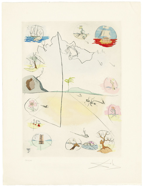 Salvador Dalí, 'The Twelve Tribes of Israel', 1973, Print, The complete set of thirteen etchings with pochoir in colours on Arches wove paper, Christie's