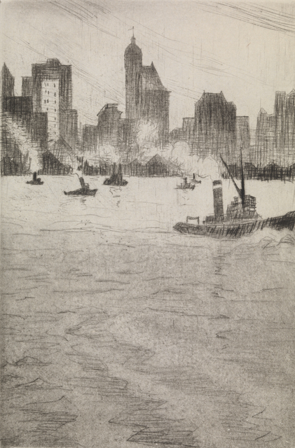 , 'From the Ferry, New York,' 1921, Osborne Samuel