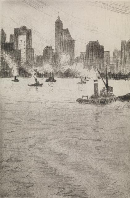 , 'From the Ferry, New York,' 1921, Osborne Samuel