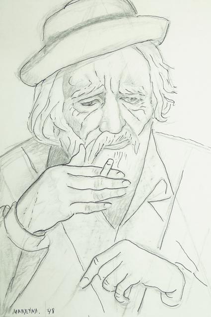 Marie Vorobieff Marevna, 'Portrait of a man smoking', 1948, Roseberys