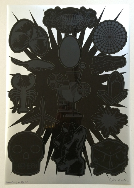 John M. Armleder, 'Annonciation I and Annonciation II', 2014, Mixed Media, Screen print on black vinyl sticker, Swiss Institute Benefit Auction