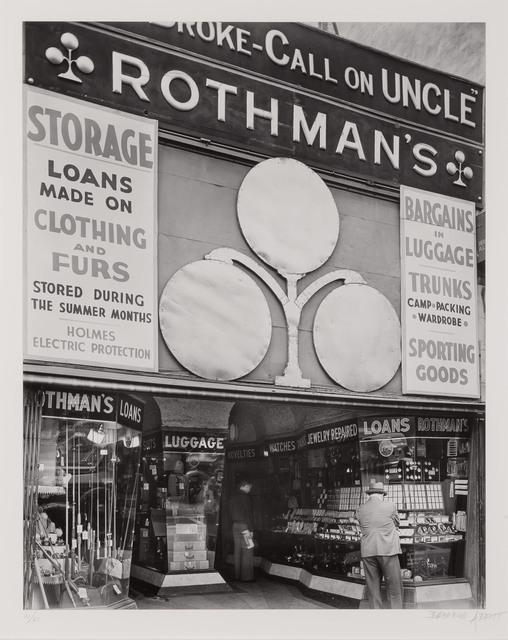 Berenice Abbott, 'Rothman's Pawn Shop, 149 8th Ave.', 1938, Doyle