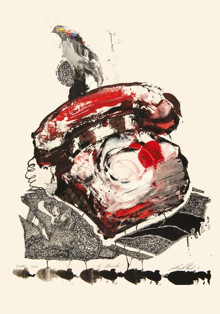 Frank David Valdés, 'The call', 2019, Painting, Mixed media on paper, ArteMorfosis - Cuban Art Platform