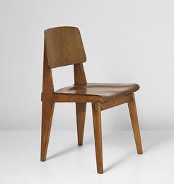 """Jean Prouvé, '""""Tout bois"""" chair,' ca. 1943, Phillips: Design"""