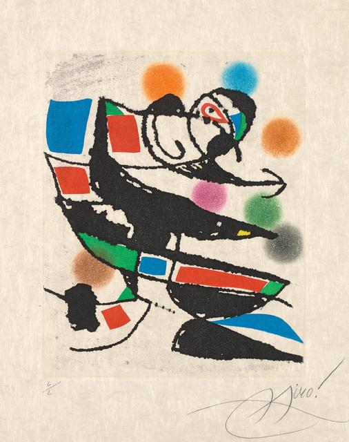 Joan Miró, 'Le Marteau sans maître (The Hammer Without a Master): one plate', 1976, Phillips