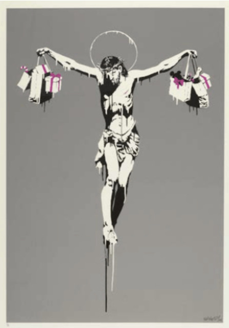 Banksy, 'Christ With Shopping Bags', 2004, Print, Screen Print on Paper, ArtLife Gallery
