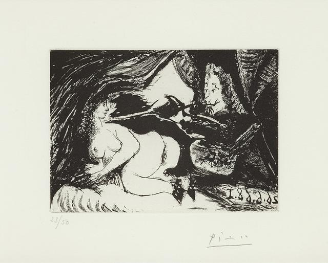 , 'Peintre peignant la nuque de son jeune modéle, 26.06.68 I,' 1968, Alan Cristea Gallery