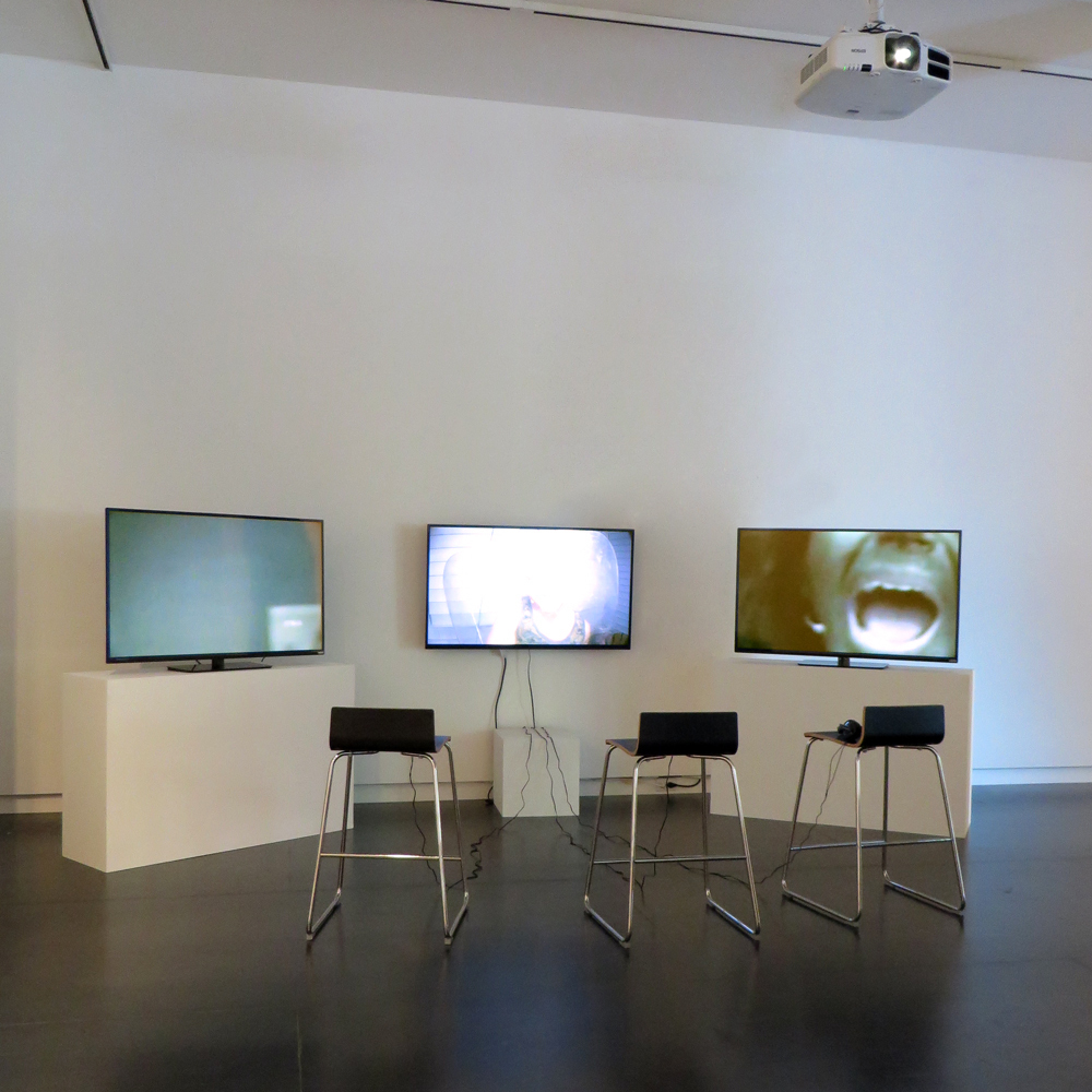 Comma Boat (still), 2013 by Ryan Trecartin, presented as three channel movie installation at Upfor. Work lent for exhibition courtesy the artist and Regen Projects Los Angeles/Andrea Rosen Gallery New York.