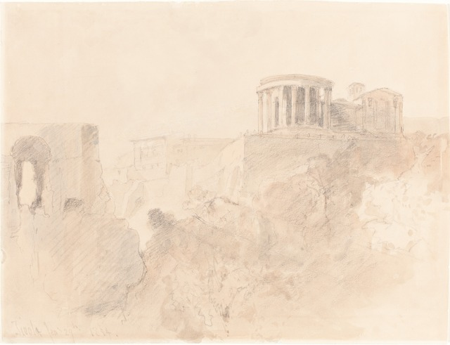 David Roberts, 'Tivoli', 1854, Drawing, Collage or other Work on Paper, Graphite and watercolor on wove paper, National Gallery of Art, Washington, D.C.