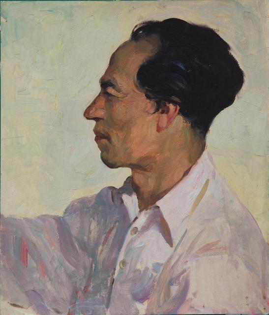 , 'Artist Jung Kwan-chul (Chairman, Central Committee of Joseon Artists' Association),' 1954, Hakgojae Gallery