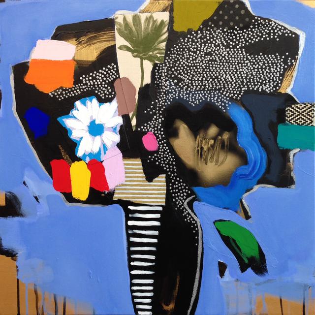 , 'Vase of Flowers (periwinkle),' 2016, Newzones