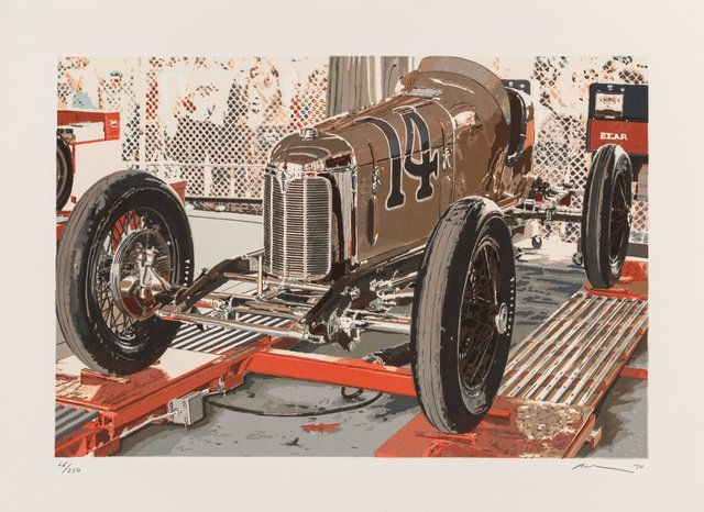 Ron Kleemann, 'Old Indy', 1980, Print, Screenprint in colors on Somerset paper, Heritage Auctions
