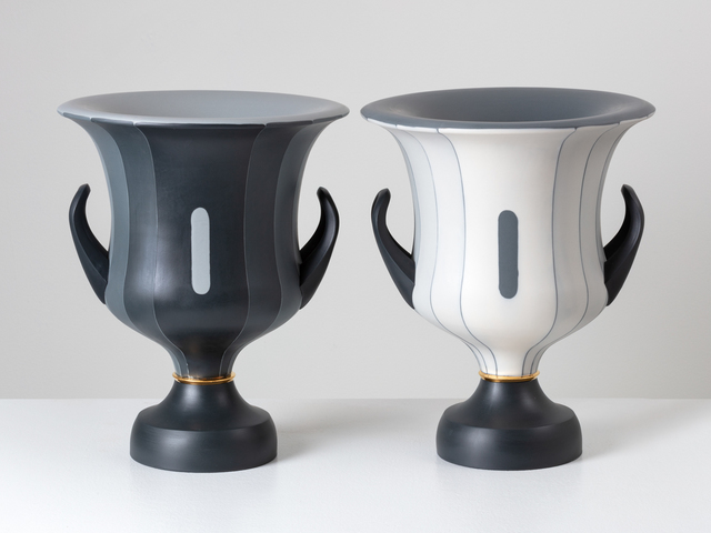 Peter Pincus, 'Pair of Calyx Krater inspired Vases, from the series 'One Shows Two, Two Influence Twenty' (pair)', 2018, Design/Decorative Art, Porcelain, Ferrin Contemporary