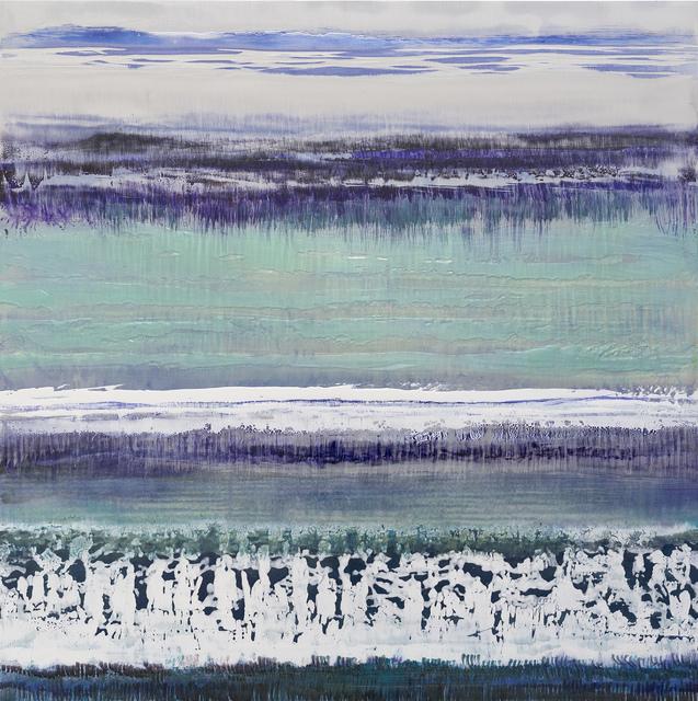 Bruno Kurz, 'Purple ice', 2018, Painting, Acrylic and resin on metal, Odon Wagner Gallery