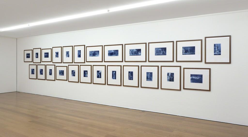"Installation View, Thomas Ruff ""neg◊lapresmidi"" @Galerie Rüdiger Schöttle Photo: Wilfried Petzi"