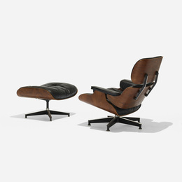 670 armchair and 671 rotating ottoman