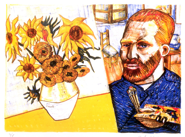 , 'Van Gogh with Sunflowers,' 1988, Marlborough Gallery
