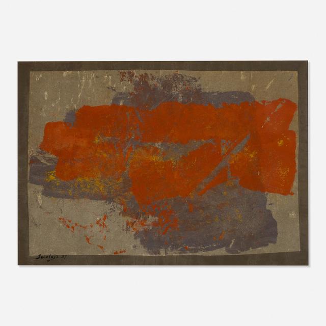 Toti Scialoja, 'Untitled', 1957, Mixed Media, Mixed media on paper, Rago/Wright