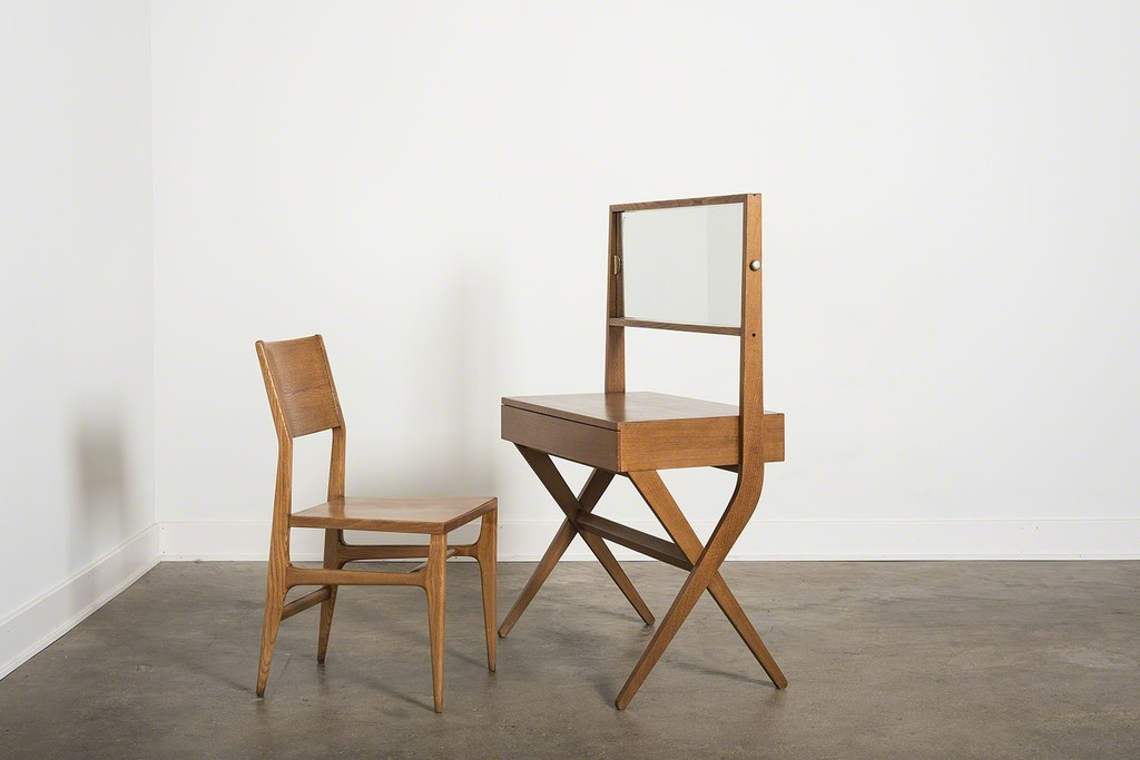 Chair by Gio Ponti, vanity by Franco Albini.