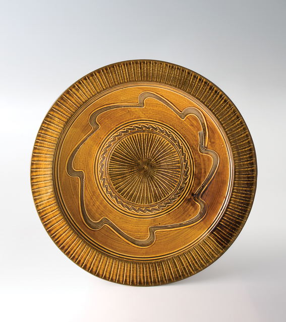 , 'Large Dish with Amber Glaze,' n/a, Pucker Gallery
